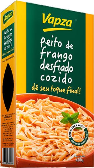 Peito de Frango Desfiado Cozido no Vapor Vapza