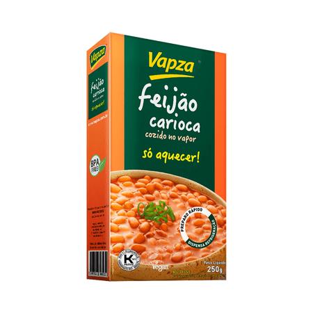 Feijão Carioca 250G Só Aquecer Vapza - Peso líquido 250g