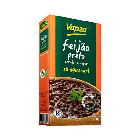Feijão Preto 250G Só Aquecer Vapza - Peso líquido 250g
