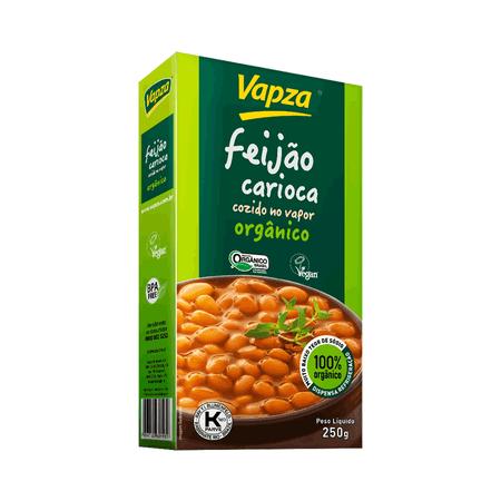 Feijão Carioca Orgânico 250G Vapza - Peso líquido 250g