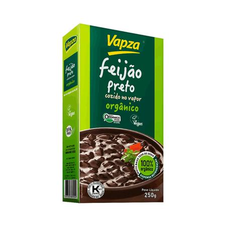 Feijão Preto Orgânico 250G Vapza - Peso líquido 250g