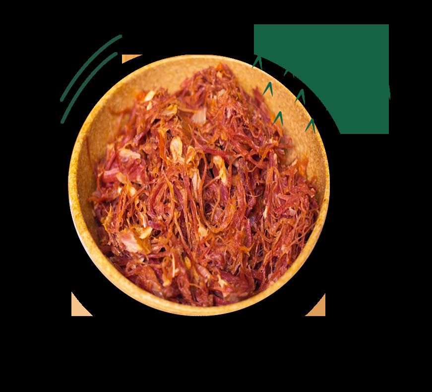 Prato com carne bovina em tiras