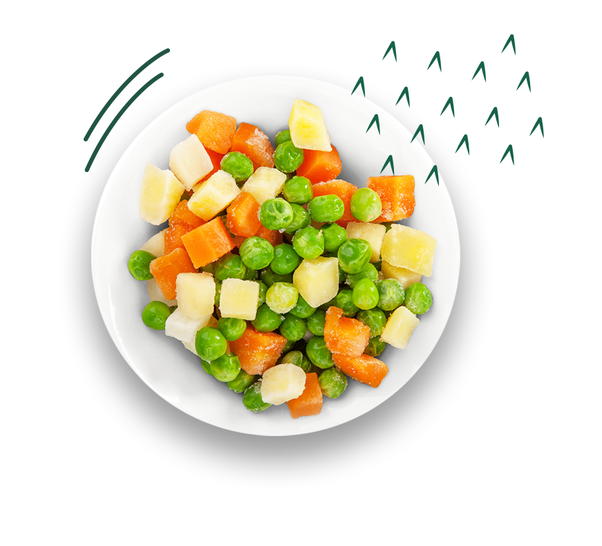 Prato com legumes